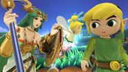 Créditos Modo Leyendas de la lucha Toon Link SSB4 (Wii U)