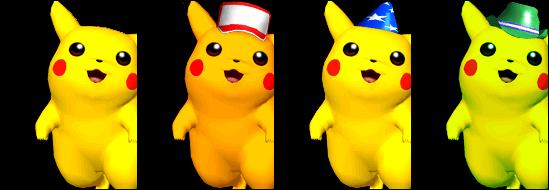 Paleta de colores Pikachu SSBM