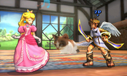 Peach y Pit en la Casa rural SSB4 (3DS)