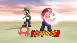 Pose de victoria hacia arriba (2) Mario SSBB