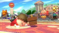Ataque rápido del Aldeano SSB4 (Wii U)