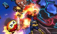 Captain Falcon usando Salto depredador en Smashventura SSB4 (3DS)