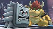 Kirby utilizando el ataque especial Roca en el Ring junto a Bowser - (SSB. for Wii U)