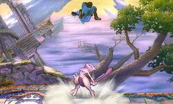 Lanzamiento hacia arriba Mewtwo (4) SSB4 (3DS)