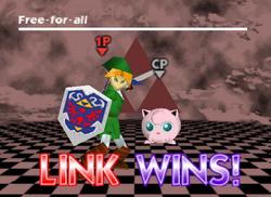 Pose de victoria de Link (2-1) SSB