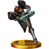 Trofeo de Samus (Traje Oscuro) SSB4 (Wii U)