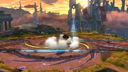 Karateka Mii usando Patada hacha (3) SSB4 (Wii U)