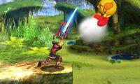Lanzamiento hacia adelante Shulk SSB4 (3DS)