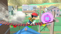 Ataque en carrera Ness SSB4 (Wii U)
