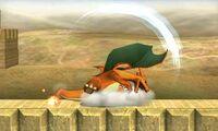 Ataque smash superior de Charizard (2) SSB4 (3DS)