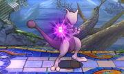 Burla hacia abajo Mewtwo (derecha) SSB4 (3DS)