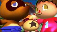 Créditos Modo Leyendas de la lucha Aldeano SSB4 (3DS)