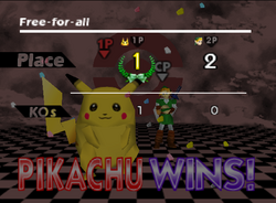 Pose de victoria de Pikachu (1-2) SSB
