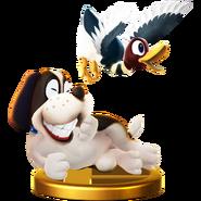 Trofeo del Dúo Duck Hunt SSB4 (alt.) (Wii U)