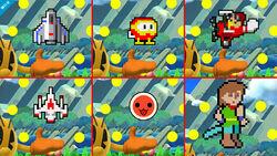 Variaciones de la Burla hacia arriba de Pac-Man SSB4 (Wii U)