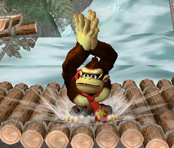 Ataque Smash hacia arriba de Donkey Kong (2) SSBM