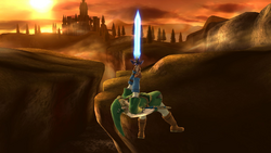 Ataque aéreo superior de Link SSB4 (Wii U)