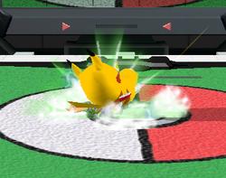 Lanzamiento hacia abajo de Pikachu (2) SSBM