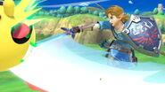 Link y Pac-Man en el Tren de los dioses SSBU