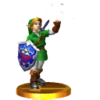 Trofeo de Link adulto (Ocarina of Time) SSB4 (3DS)