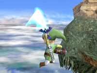 Ataque aéreo trasero Toon Link SSBB