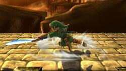 Ataque de recuperación boca arriba de Link (2) SSB4 (Wii U)