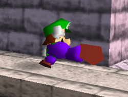 Ataque fuerte lateral de Luigi SSB