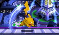 Ataque fuerte superior Pikachu SSB4 (3DS)