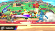 Canela evitando un ataque SSB4 (Wii U)