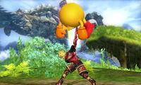 Lanzamiento hacia arriba Shulk SSB4 (3DS)