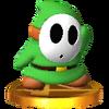 Trofeo de Shy Guy verde SSB4 (3DS)