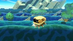 Ataque aéreo hacia abajo de Bowser SSB4 (Wii U)