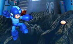 Ataque aéreo normal de Mega Man SSB4 (3DS)