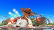 Ataque de recuperación boca abajo (1) Tirador Mii SSB4 Wii U