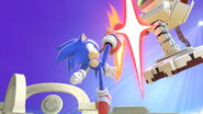 Ataque fuerte hacia arriba Sonic SSBU