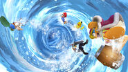 Corrin usando su Smash Final (2) SSB4 (Wii U)