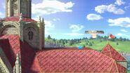 Interruptor azul en el Castillo de Peach (Melee) SSBU
