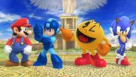 Mario, Mega Man, Pac-Man y Sonic en el Reino del Cielo SSB4 (Wii U)