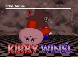 Pose de victoria de Kirby (1-2) SSB