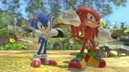 Sonic y Knuckles en el Vergel de la Esperanza SSBU