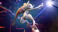 Mewtwo usando su Smash Final en la Pirosfera SSB4 (Wii U)