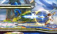 Pit disparando una flecha de Palutena SSB4 (3DS)