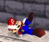 Ataque Smash hacia abajo de Mario (1) SSB