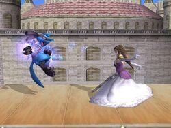 Lanzamiento trasero Zelda SSBB