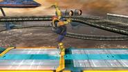 Ataque fuerte superior de Captain Falcon (1) SSB4 (Wii U)
