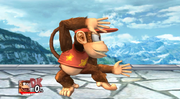 Burla lateral de Diddy Kong SSBB