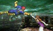 Captain Falcon y Zelda en el Bosque Génesis SSB4 (3DS)