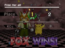 Pose de victoria de Fox (2-3) SSB