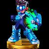 Trofeo de Star Force Mega Man SSB4 (Wii U)