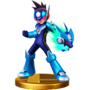 Trofeo de Star Force Mega Man SSB4 (Wii U)